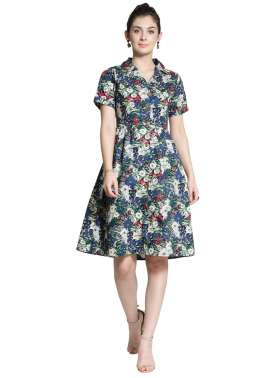 plusS Women Multicoloured Printed Shirt Dress