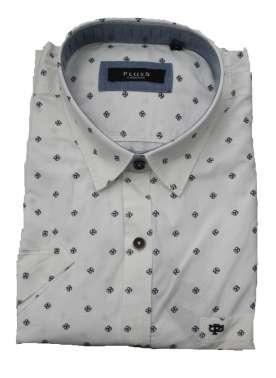 plusS Men Shirt Comfort Fit Printed Casual Shirt
