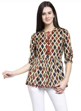 plusS Women Multicoloured Printed Top