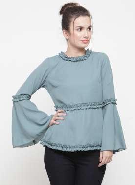 plusS Women Blue Solid Top