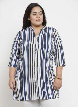plusS Multicoloured Striped Tunic