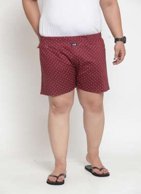 plusS Men Maroon Printed Boxers