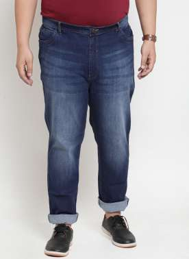 Blue Regular Fit High-Rise Clean Look Jeans
