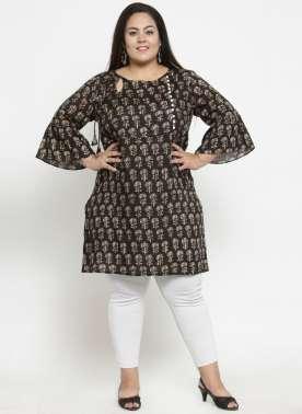 Women Brown & Beige Printed Tunic