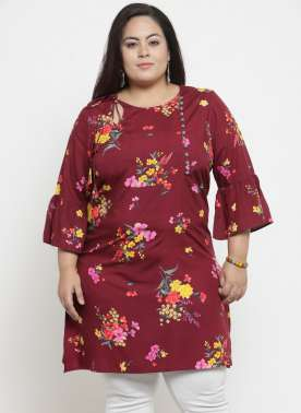 Women Maroon Printed Tunic
