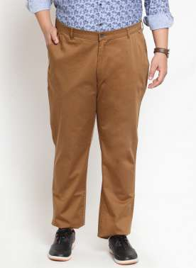 Khaki Casual Trouser With Regular Fit