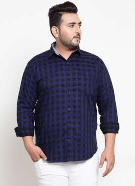 Black & Blue Regular Fit Checked Casual Shirt