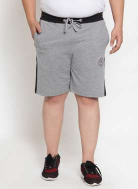 Grey Solid Regular Fit Regular Shorts