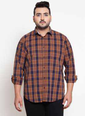Brown & Olive Green Regular Fit Printed Casual Shirt