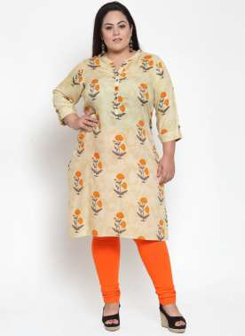 Yellow Ethnic Printed Kurti
