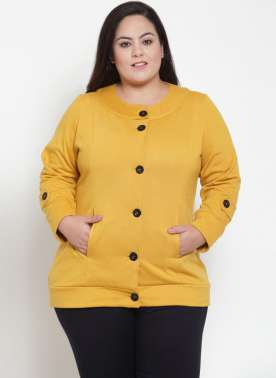 Yellow Solid Jacket