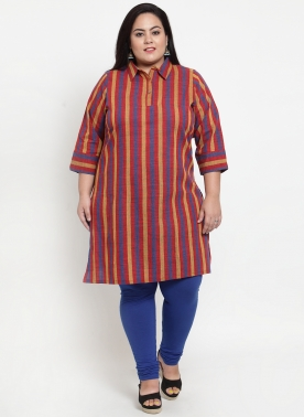 Blue Stripe Straight Kurta