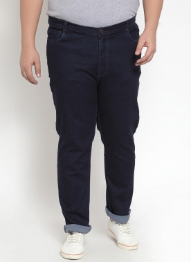 Navy Blue Matt Slim Fit Low-Rise Clean Look Jeans