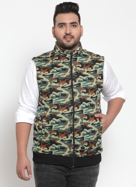 Men Army Printed Bomber Jacket