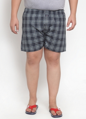 plusS Mens Checked Boxers