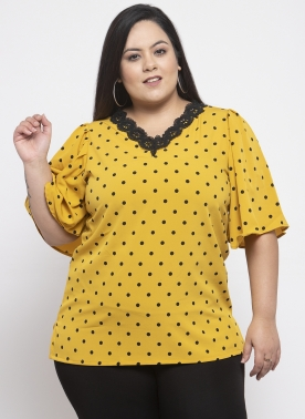 Women Mustard Yellow Solid Top