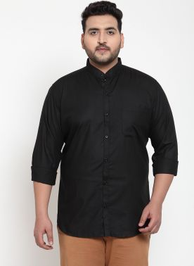 Black Regular Fit Casual Shirt