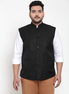 Men Black Nehru Jacket