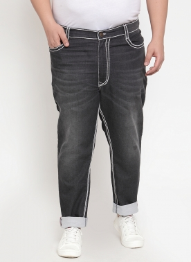 Men Black Regular Fit Jeans