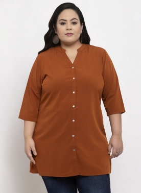 Women Brown Floral Tunic