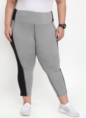 Women Grey Solid Regular Fit Capris