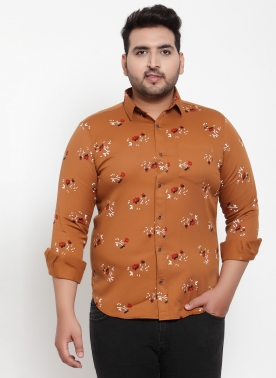 Men Multicoloured Regular Fit Printed Casual Shirt