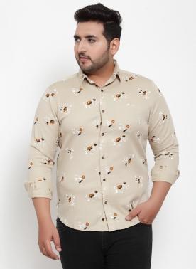 Men Multicoloured Regular Fit Printed Casual Shirt