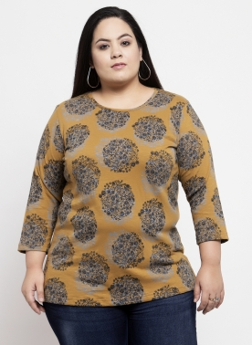 Women Mustard Printed Top