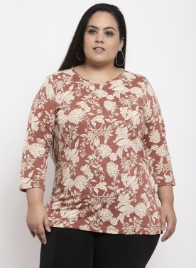 Women Mauve Printed Top