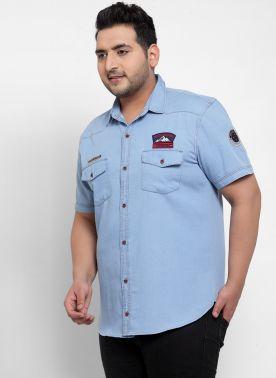 Men Blue Casual Shirt