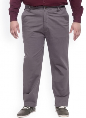 Grey Smart Fit Trousers